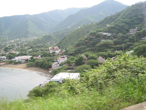 Our one photo from Taganga, Colombia - snapped from the taxi on our way out of there