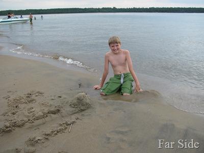 Adam at Cedar Island Sandbar