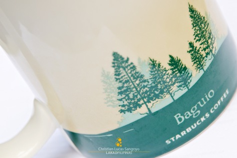Pine Trees at the back of Starbucks Mug Baguio