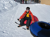 Kai on an inner tube at Keystone