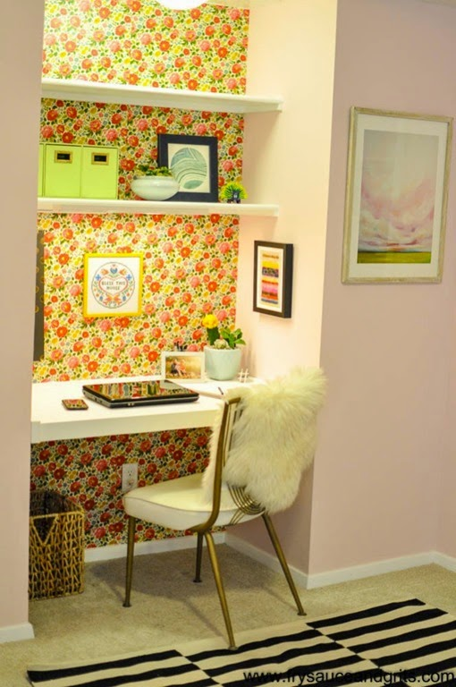 Eclectic-Vintage-Feminine-Pink-Office-Makeover-from-Fry-Sauce-Grits-FrySauceandGrits.com-1-of-13-663x999