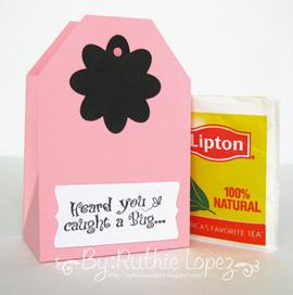 Tea bag. Inky Impressions. Flowers. Ruthie Lopez 2