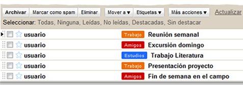 Personalizar las etiquetas de Gmail