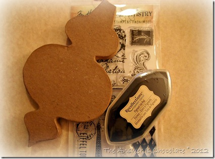 Stamped Paper Mache Ornament