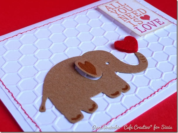 cafe creativo - Anna Draicchio - sizzix big shot - card elephant love (2)