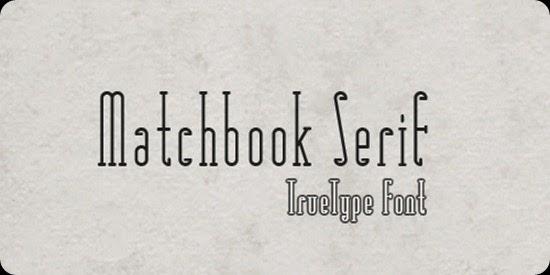 font Matchbook-Serif