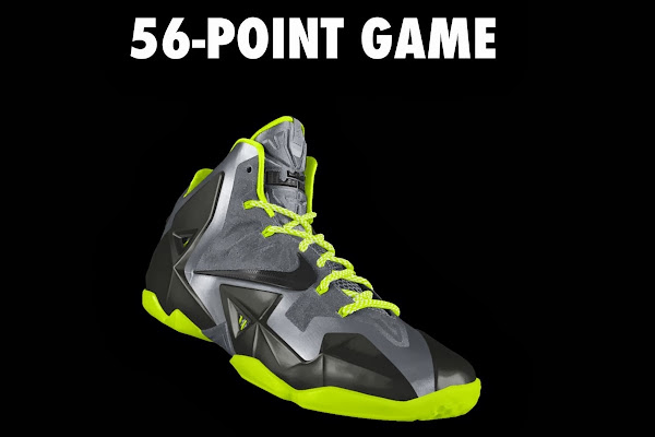 A Decade of Moments  NIKEiD LeBron XI 8220The 56Point Game8221