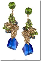 Bijoux Heart Blue drop earrings