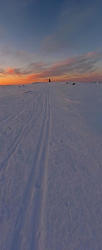 Livarden i solnedgang vinter