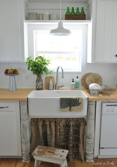 Sink Skirt and a Recipe