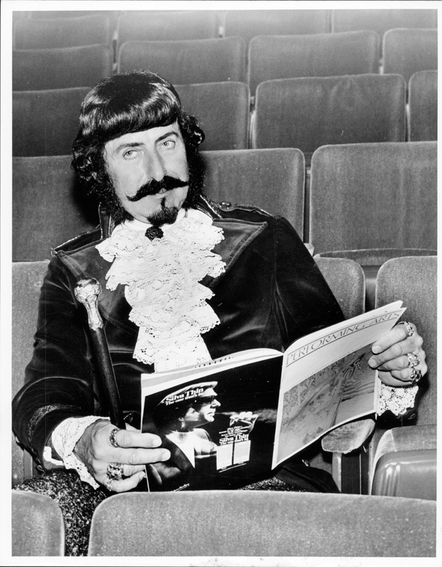 Matthew of Glendale reading Performing Arts magazine while sitting in the theater. Circa 1969-1970.