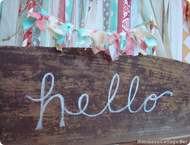 {NorthernCottage} hello sign