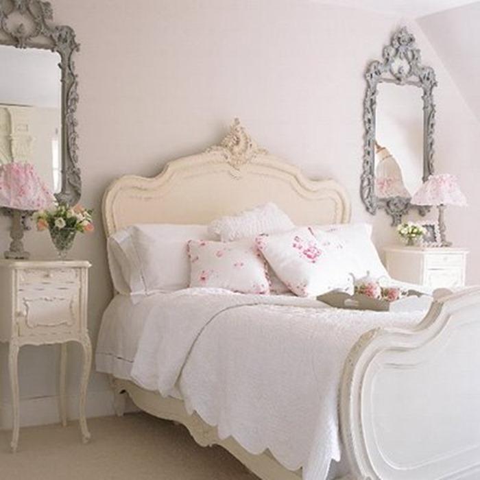 quarto decorado com branco
