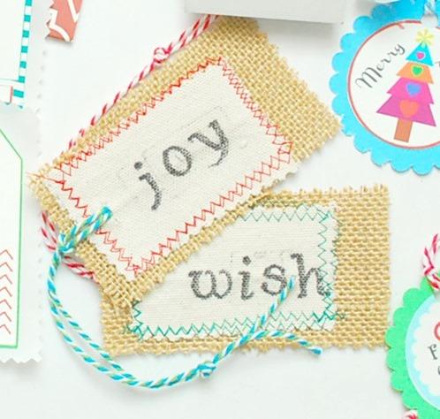 Burlap Holiday Gift Tags