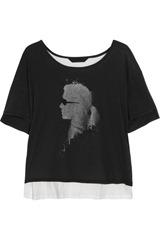 Karl Jacinda two-tone printed cotton T-shirt