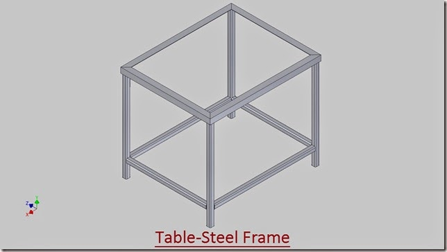 3D Solid Modelling Videos: Fabrication of frame for Table by Frame ...