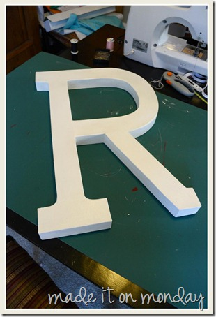 Button Letter Painted