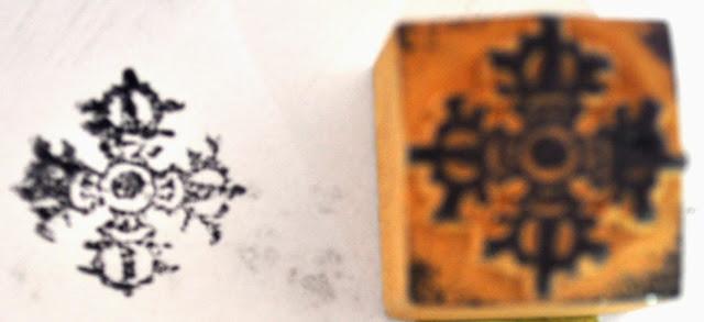 Wooden Block Dorjee Stamp