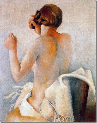 Josep de Togores i Llach -Mujer peinándose _1924