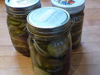 Homemade bread-and-butter pickles