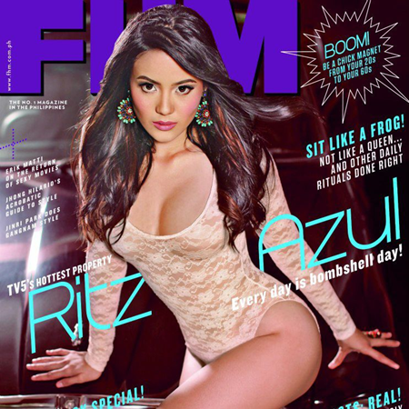 Ritz Azul covers FHM Ph Nov 2012