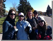 TEAM COWBELL! The CCRR gang cheering at the Hamilton Road2Hope Marathon