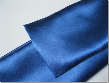cobalt blue wedding ring bearer pillow and garter (11)