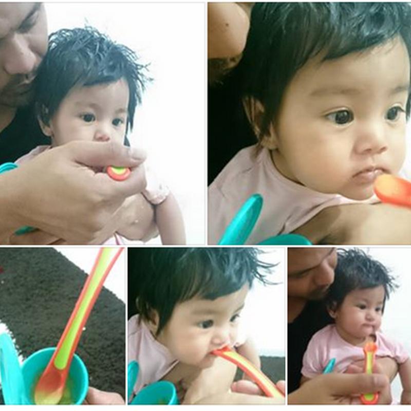 Akhirnya , Zahra dapat juga makan !!