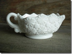 milk glass square dish