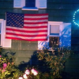 Here is a flag display I made for flag day Saturday. by Paul Guzewicz - Buildings & Architecture Homes ( Lighting, moods, mood lighting )
