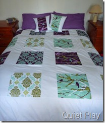 Aviary 2 Squares doona cover