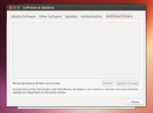 Ubuntu 13.10 -  Driver aggiuntivi