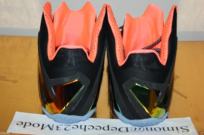 nike lebron 11 ps elite black mango 1 05 Closer Look at LeBron 11 PS Elite Mango That Drops in June