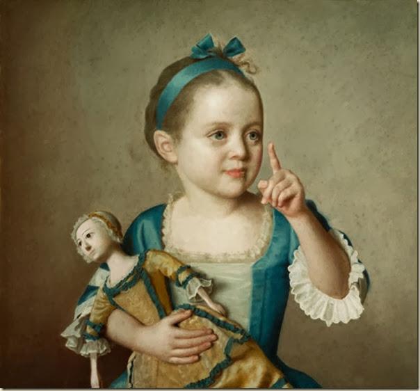 Jean Etienne Liotard, Enfant avec poupée