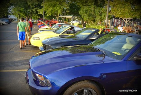 There's always a row of Mustangs!