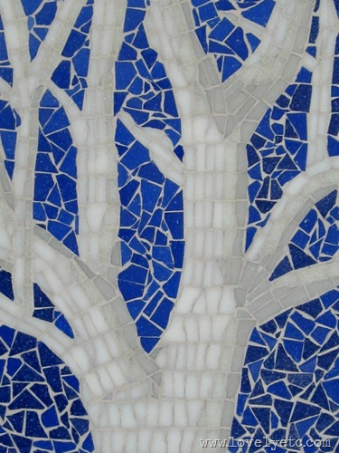 tree mosaic close up