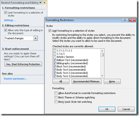 How to Restrict Formatting and Editing Changes to Word Documents