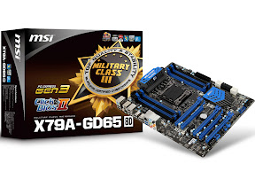 MSI X79A-GD65 (8D) mainboards, Military Class III Components