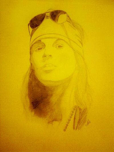 Axel Roses, retrato de Dolores Hernández