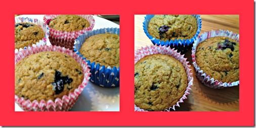 blueberry ginger muffins collage