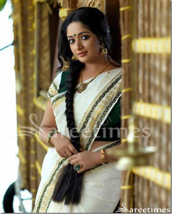 Kavya_Madhavan_White_Saree