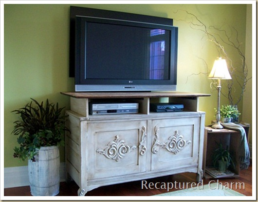 wooden entertainment unit after 015a
