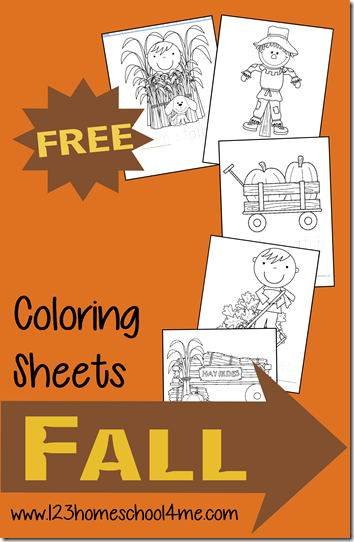 FREE Fall Coloring Pages for Kids. These super cute free coloring pages include things like pumpkins, hay rides, scarecrows, and more for fun for preschool, prek, kindergarten, first grade, and more.