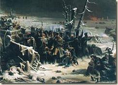 L'héroïque retraite du IIIe corps du maréchal Ney à Krasnoï par Adolphe Yvon (1817-1893)