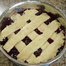 Raw Cherry Pie With Macadamia Crust