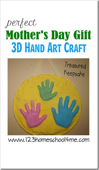 Mothers Day Gift - 3D Hand Art Wall Keepsake