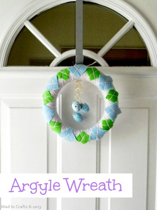 spring argyle wreath