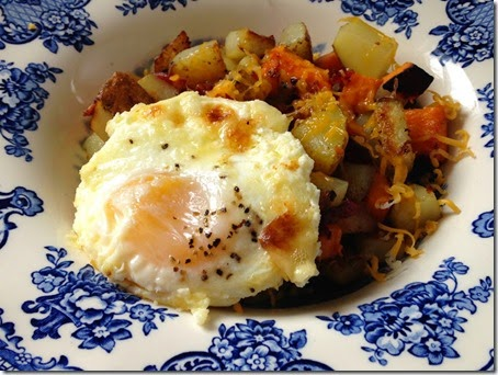 Hash with Broiled Egg