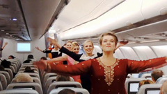 Finnair Bollywood dancing