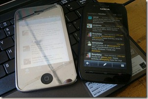 nokia 603 iphone 3gs